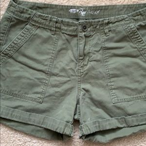 """Olive Green """"Army"""" Style Shorts"""